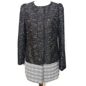 Banana Republic Black & Tweed Colorblock Coat